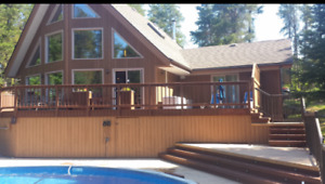 Executive Cottage with 32' diameter Stamped Concrete Pool