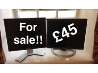 REDUCED Two dell monitors (could deliver)