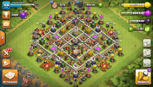 Compte Clash of Clans HDV 11