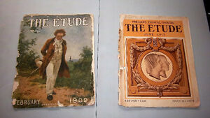 THE ETUDE MUSICAL MAGAZINES – FEBRUARY 1909 AND JUNE 1913