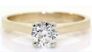 SOLITAIRE 0.64CT. DIAMOND 14KT YELLOW GOLD RING