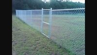 Chain link fence installations/repairs/removal.