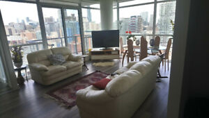 Room for rent in stunning 2Bed Condo DT.Private washroom/Balcony