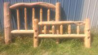 Log Bed Frame