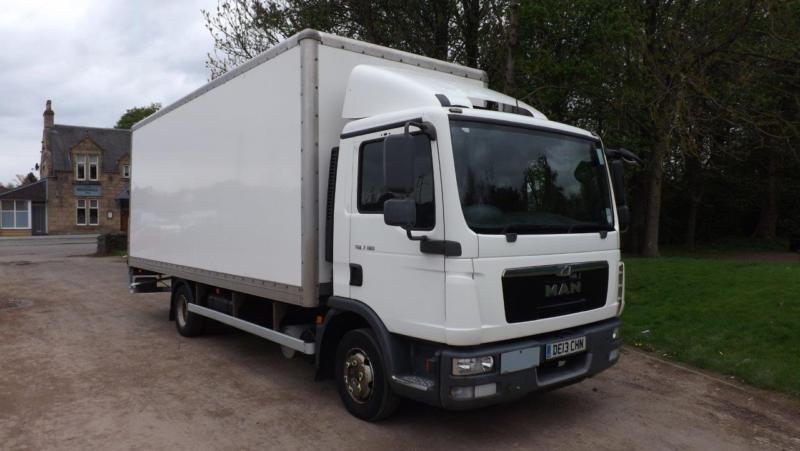 a7fdaad8690811 2013 MAN ERF TGL 7.180 Euro 5 7.5t Box Tail Lift Truck For Sale