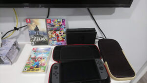 Nintendo Switch + Games + Case + 64GB SD Card
