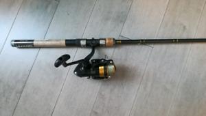 Canne à pêche et moulinet Daiwa neufs
