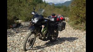Low kilometer Kawasaki KLR650 dual sport