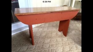 Primitive country bench or coffee table