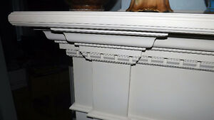 White stone fireplace Mantle and surround from Century Home. London Ontario image 6