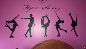 Figure Skating Wall Decals