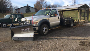 Ford F-550 with Boss Plow Plow & Hiab Hook Loader