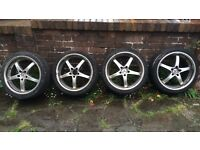 "MERCEDES ALLOYS GENUINE 18"" looks like 19 NOT AMG REPLICA 8.5j alloys wheels tyres"