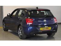 2015 BMW 1 Series 116i Sport 5dr Step Auto Petrol blue Automatic