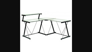 Glass and metal corner desk-need gone asap