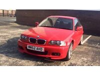 BARGAIN BMW 318CI IMOLA RED M SPORT BODY KIT LOW MILLAGE LONG MOT