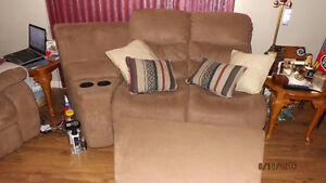 Love Seat & matching Ottoman for sale in Iroquois Falls