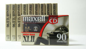 Maxell XLII 90 minutes (10x) Blank Cassette Tapes