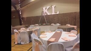 White chair covers wedding special event
