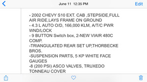 Air Bagged 2002 Chevy S10 Moose Jaw Regina Area image 7
