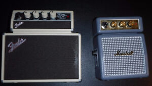 Marshall and Fender mini Guitar Amps for sale mint condtion