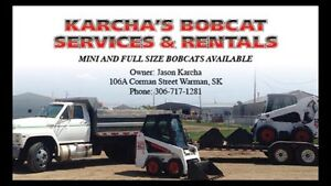 Mini bobcats to full size machines for rent ...