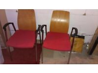 """USED """"NESS FURNITURE"""" PAIR OF OFFICE/MEETING CHAIRS"""
