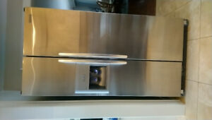 Counter depth kitchen aid fridge