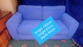 Two seater sofa (free delivery)