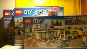 Lego City 60132+60124+60125, all brand new