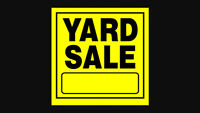 Yard sale Saturday 5th of September from 8:00 to 3:00 pm
