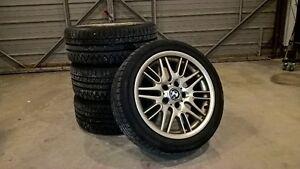 4 ALUMINUM BMW rims & winter tires