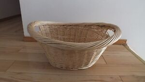 Large Oval Natural Willow Laundry Storage Basket $10