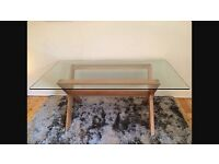 John lewis Glass 6 seater dining table & 4 chairs