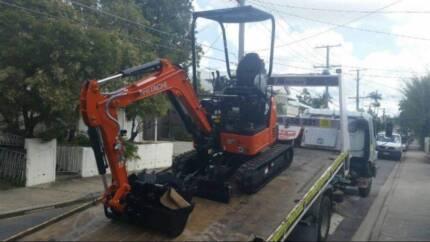 Excavator Hire 1.8 Tonne Plus Operator - $88 Per Hour