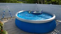 12 foot above ground inflatable pool with accessories