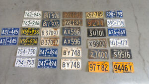 Vintage Antique License Plates - Ontario - Pairs