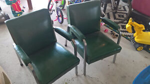 Two Leather Retro Side Chairs Peterborough Peterborough Area image 2