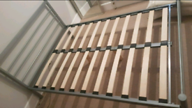 Silver bed frame - double