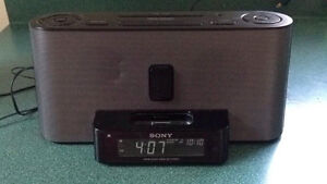 Speaker System and Clock Radio with iPod Dock