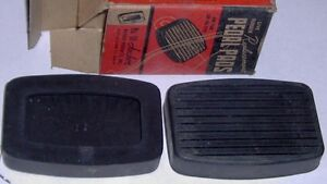 1938 to 1954 Clutch & Brake Pedal Pad Covers NORS Hudson Nash +
