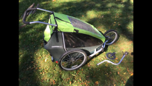 Croozer for two bike trailer, jogging stroller and stroller whee
