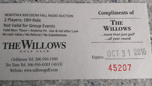 Willows golf green/cart fees passes