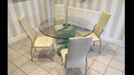 Spiral Glass Dining Table