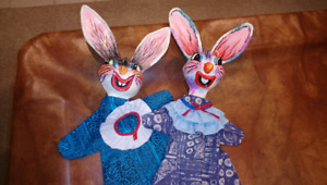 Bunny hand puppets