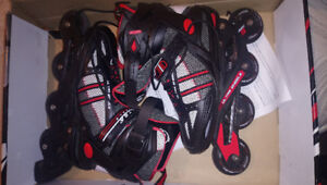 Mens' Black/Red Ultra Wheels Rollerblades, Size 8