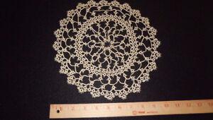 Ecru Italian intricate circular  hand-tatted lace -10