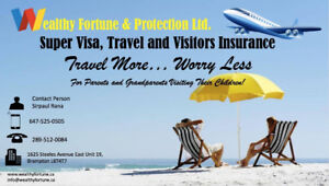 TRAVEL, VISITORS AND SUPER VISA INSURANCE. CALL FOR LOWEST RATES