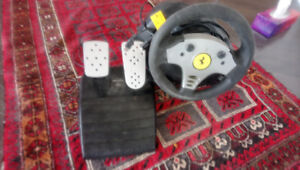 Ps3 or pc steering wheel and pedels