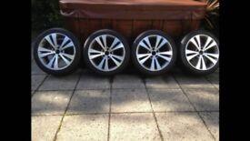4x VW CHICAGO ALLOY STYLE 235 40 18 FIT CADDY PASSAT CC EOS SEAT LEON SKODA OCTAVIA GTI R32 VRS RARE